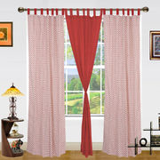 Polka Dot Printed Cotton Loop Curtain Set (Pack of 3)by Dekor World (More Colour)