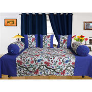 Cotton Jungle Printed Diwan Set (Pack of 6 Pcs) by Dekor World
