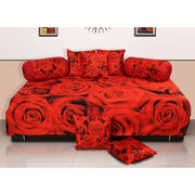 Velvet Digital Printed Diwan Set (Pack of 8 Pcs) by Dekor World