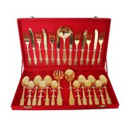 Golden Plated Cutlery Set 27  Pcs by Dekor World