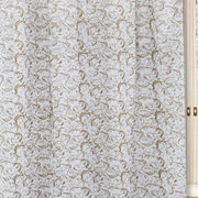 Gold Printed White Cotton Fabric by Dekor World  (MORE COLOR)