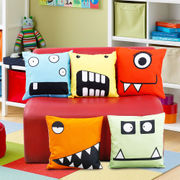Fun Club Kidz Funky Faces Cushion Collection (Pack of 5 Pcs)