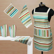 Stripe Apron Combo. Set of 6 Pcs by Dekor World (MORE COLOR)