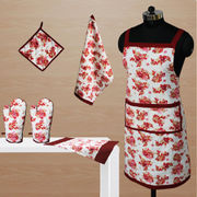 Floral Apron Combo. Set of 6 Pcs by Dekor World (MORE COLOR)