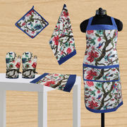 Floral Bird Printed Set - 6 Pcs by Dekor World