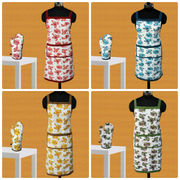 Floral Apron Glove Set by Dekor World (MORE COLOR)