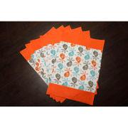 Bird Orange Cotton Printed Place Mat (Pack of 6) by Dekor World