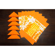 Abstract Orange Cotton Printed Place Mat W/Napkin (Pack of 12) by Dekor World