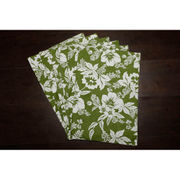 Floral Green Cotton Printed Place Mat (Pack of 6) by Dekor World