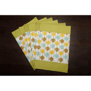 Owl Green Cotton Printed Place Mat (Pack of 6) by Dekor World