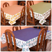 Floral Printed Plain Table Cover (Pack of 1)(More Color & Size)