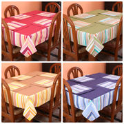 Stripe Printed Table Cover With Place Mat (More Color & Size)