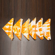Abstract Printed Orange Napkin Set (Pack of 6)By Dekor World