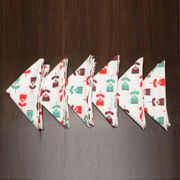 Floral Printed Red Napkin Set (Pack of 6)By Dekor World