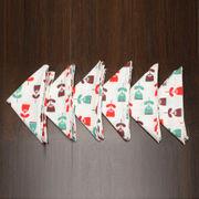 Floral Printed Red Napkin Set (Pack of 6)By Dekor World