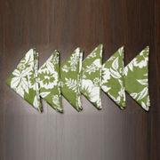Floral Printed Green Napkin Set (Pack of 6)By Dekor World
