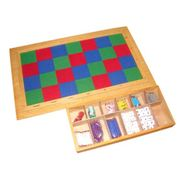 Chequer Felt Board with Bead Box