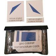 Geo Cabinet Shapes: 3 Part Nomenclature Cards
