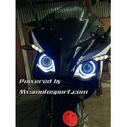 MXS2201 Angel Eyes COB LED Halo Ring Pulsar rs 200 Bike Motorcycle
