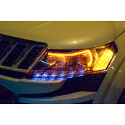 MXS1886 Audi-Style White-Amber DRL Daytime Running Light For Mahindra XUV 500