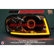 MXS2292 Audi-Style White-Amber DRL Daytime Running Light for Tata Safari Dicor