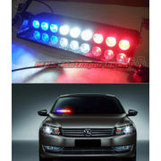 MXS2483 Police Style 9 LED Red Blue and White Strobe Flasher Light For Car and SUV