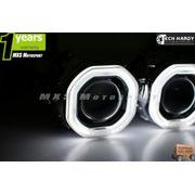 MXS872 Mitusbishi Lancer Headlight HID BI-XENON HALO Ring Square Projector