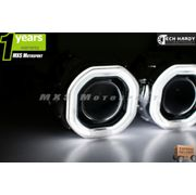 MXS898 Hyundai  Verna Fluidic Headlight HID BI-XENON HALO Ring Square Projector