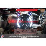 MXSHL392 LED Black Monster Headlight for Royal Enfield Bullet Motorcycle