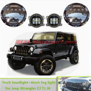 MXSHL434 Daymaker LED Monster Projector Headlight + Side Auxiliary Lamps (COMBO) Mahindra Thar Jeep