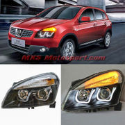 MXSHL437 Projector Headlights With Day Time Running Light Nissan Qashqai 2008-2013