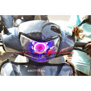 MXSHL490 Led Projector Headlight with Angel Eye For Honda Activa
