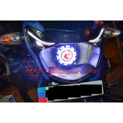 MXSHL495 Led Robotic Eye Projector Headlight Tvs Apache rtr new version