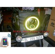 MXSHL518 UM Renegade Commando Headlight Halo Ring Angel Eye with Bluetooth APP Control