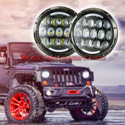 MXSHL96 Tech Hardy Round CREE LED Projector Headlights for Mahindra Thar Jeep Wrangler