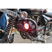 MXSORL134 Projector Fog Lights Angel Eye Halo + Red Demon Eye Strobe Bajaj Avenger Motorcycle