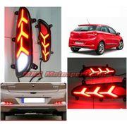 MXSTL137 Hyundai i20 Elite Rear Bumper Reflector DRL LED Tail Lights
