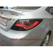 MXSTL21 LED Tail Lights Hyundai Verna Fluidic Smoked Black