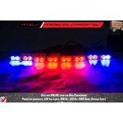 MXS2209 Police Style 16 LED Red Blue Strobe Flasher Car Grille Lights