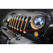 MXSHL157 Black Round CREE LED Projector Headlights for Mahindra Thar Jeep