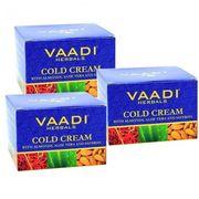 Vaadi Herbals Cold Cream with Almond Oil & Aloe Vera - Pack of 3