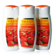 STRAWBERRY SCRUB LOTION with Walnut Grains (110mlx3)