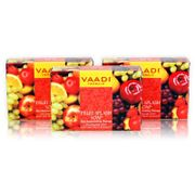 FRUIT SPLASH SOAP with extracts of Orange, Peach, Green Apple & Lemon (3 X 75 gms)