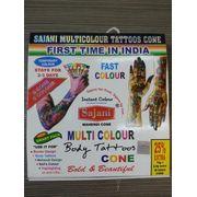 Multicolour Body Tattoos Cones Instant Colour