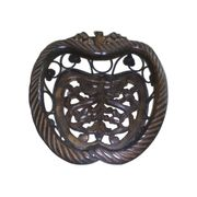 Wooden & Iron Fruit Basket Apple Shape