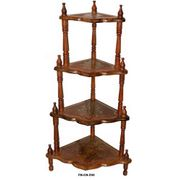 Wooden 4 Shelf Foldable Corner Rack