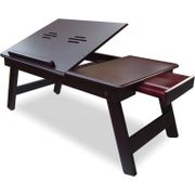 Wooden High Quality Laptop Table Foldable Laptop Table (Brown)