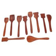 Onlineshoppee Premium Quality Wooden Spoon Set Of 10 Pcs