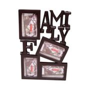 Onlineshoppee Wooden and Antique Wall Hanging Family Photo Frame 4 in 1