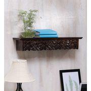 Onlineshoppee Large Solid Wood Wall Shelf